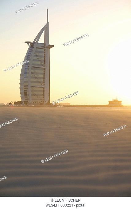 United Arab Emirates, Burj al Arab at sunset
