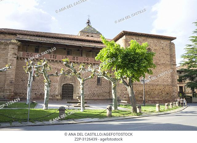 Santa Maria la Mayor church in Ezcaray village in La Rioja Spain