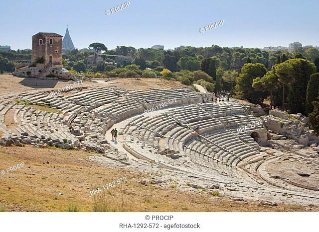 Greek Theatre, Siracusa (Syracuse), Sicily, Italy, Europe