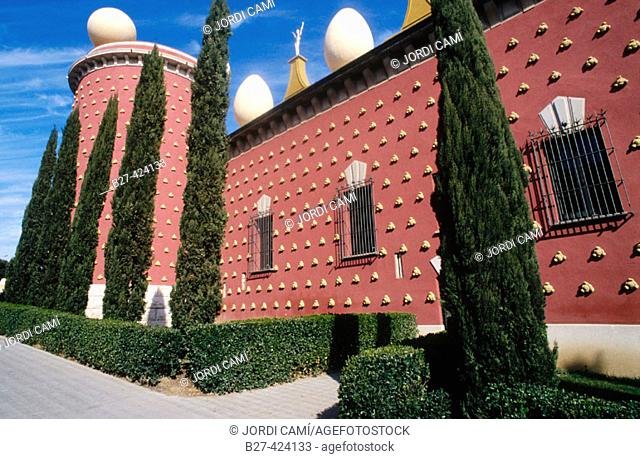 Galatea tower at the Dali Museum. Figueres. Girona province. Catalunya. Spain