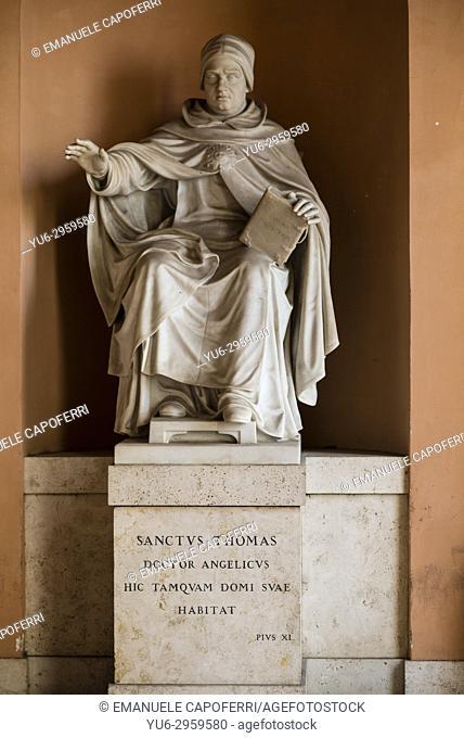 statue of St. Thomas Aquinas Angellicum University, Rome, Italy