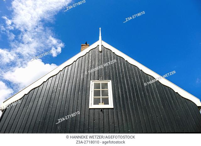 Traditional rooftop in Marken, Holland, Europe