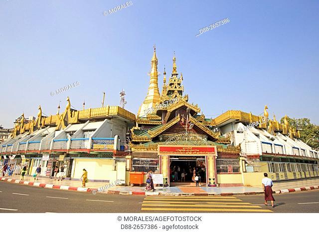 Myanmar, Yangon State, Yangon, SulePagoda