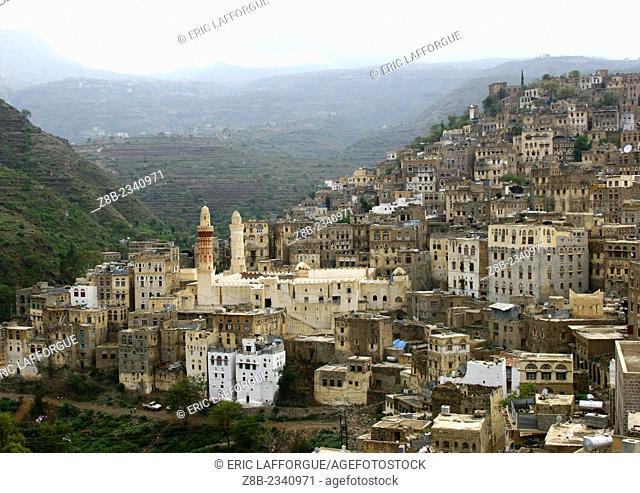 View Over The City Of Ibb, Yemen
