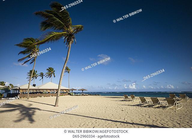 St. Kitts and Nevis, Nevis, Nisbet Beach, Nisbet Plantation Inn, former sugar plantation, beach