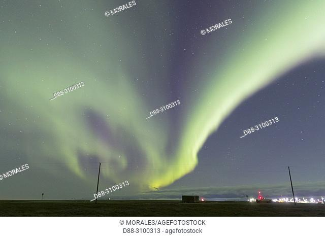 United States, Alaska, Arctic National Wildlife Refuge, Kaktovik, Northern light