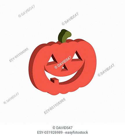 Abstract halloween object on a white background
