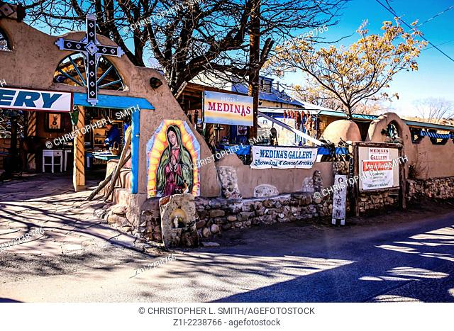 Religious artwork for sale in Chimayo in New Mexico