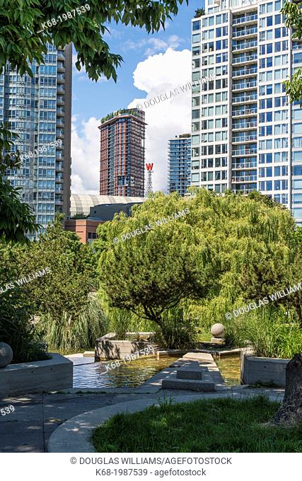 a view of downtown Vancouver, BC, Canada from Andy Livingstone Park