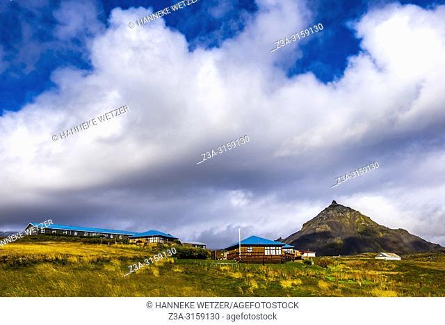 Houses in Hellnar, Snaefellsnes peninsula, Iceland
