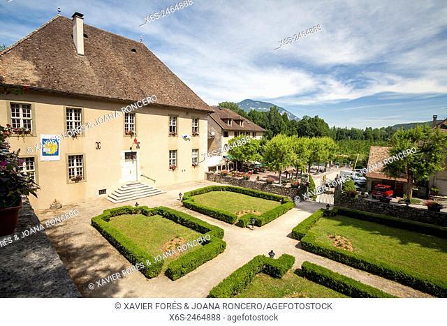 Le Chanaz village. Savoie, Rhône-Alpes, France