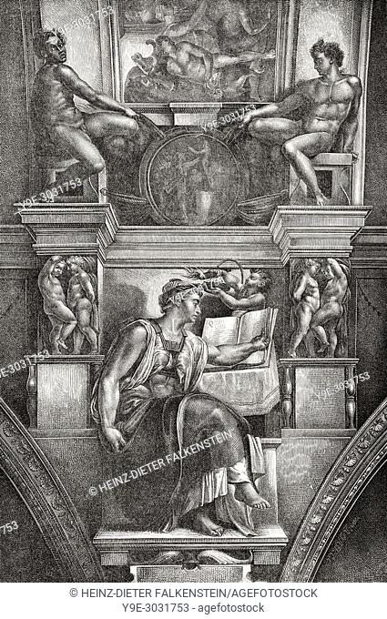 The Erythraean Sibyl, Sistine Chapel, Vatican City, Rome, Italy, 19th Century