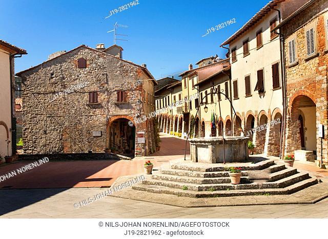 Piazza Don Alcide Lazzeri. Rimini province, Italy