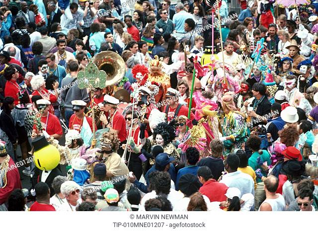 USA, Louisiana, New Orleans, Mardi Gras
