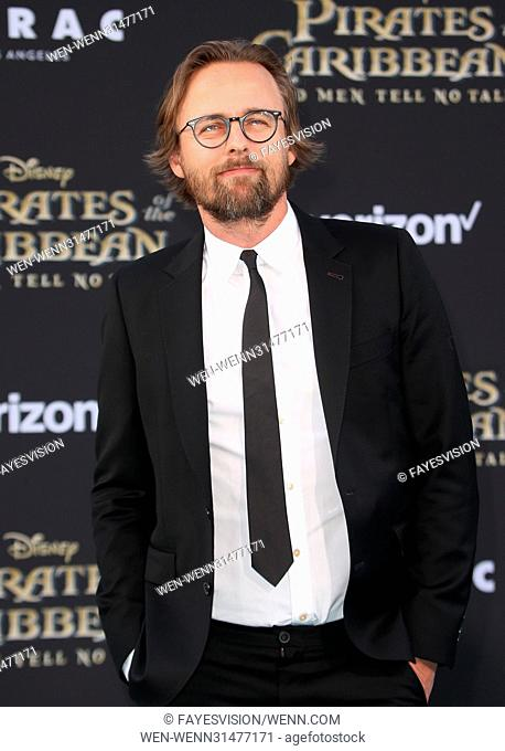"""Premiere Of Disney's """"""""Pirates Of The Caribbean: Dead Men Tell No Tales"""""""" Featuring: Joachim Rønning Where: Hollywood, California"""