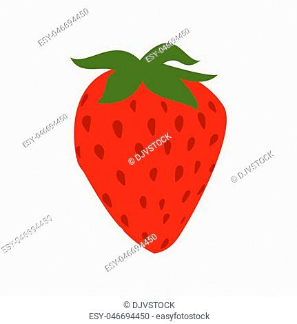 Fruit concept represented by strawberry icon. Isolated and flat illustration