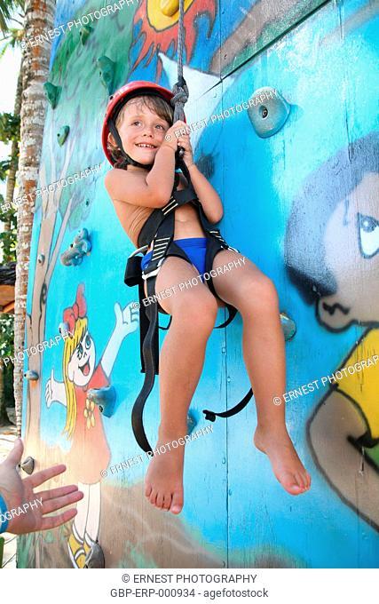 Person, Child, Boy, Sport, Climbing