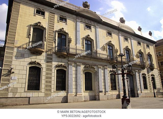Side view of Delegacion del Gobierno building, Pla de Palau, Barcelona, Spain