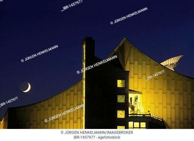 Philharmonie philharmonic hall, home of the Berliner Philharmoniker orchestra, architecture by Hans Scharoun, Tiergarten district, Berlin, Germany, Europe