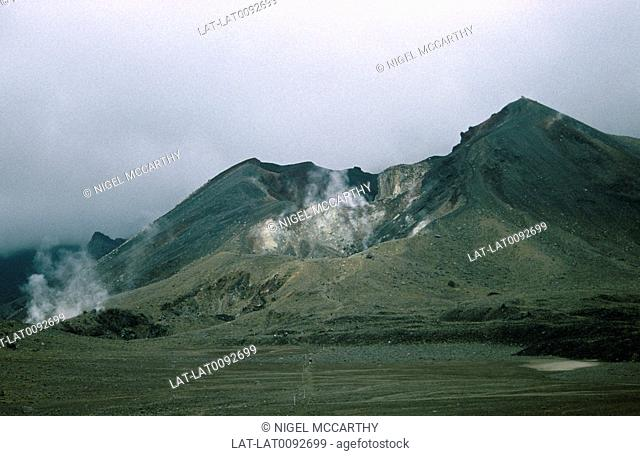 Mount Tongariro is a volcanic complex in the North Island of New Zealand. As a result of tectonic activity in the area,geothermal activity can often be seen in...
