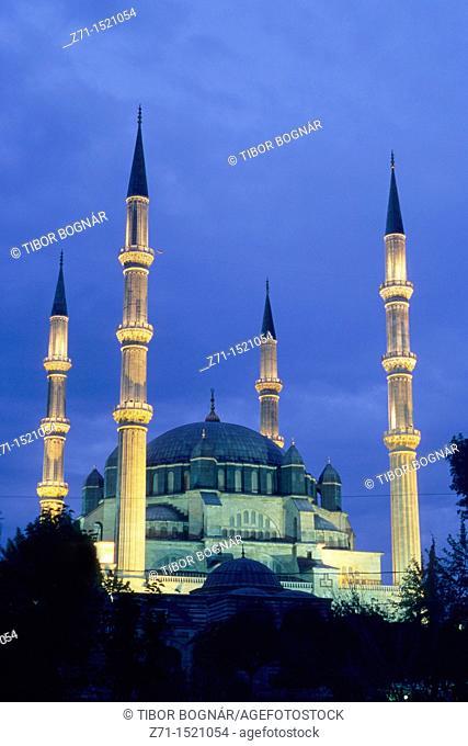 Turkey, Edirne, Selimiye Camii Mosque by architect Sinan