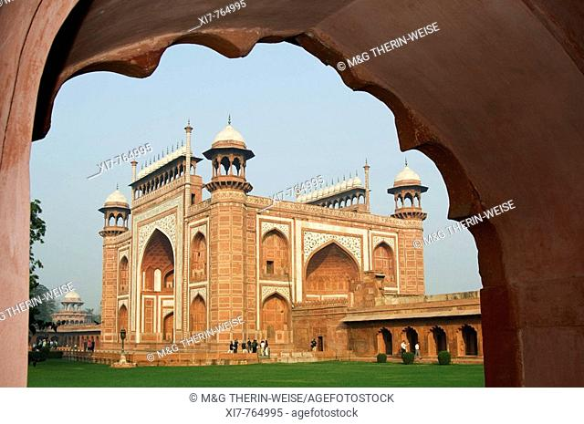 Entrance Portal of the Taj Mahal, Agra, Uttar Pradesh, India, UNESCO World Heritage Site