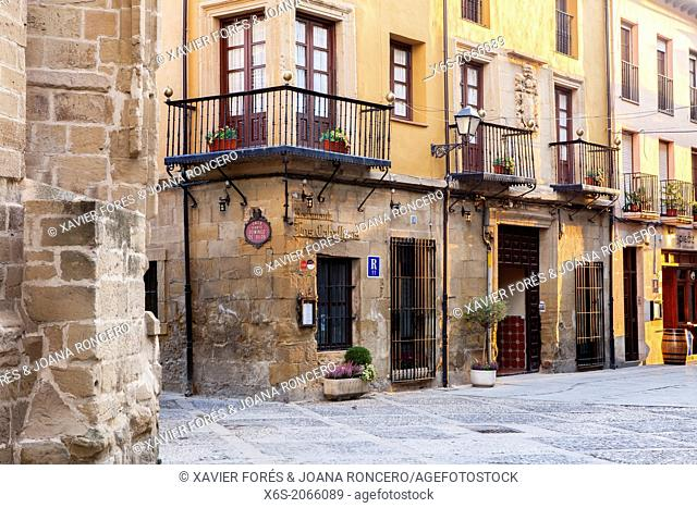 St. James way; Mayor street at Santo Domingo de la Calzada, La Rioja, Spain