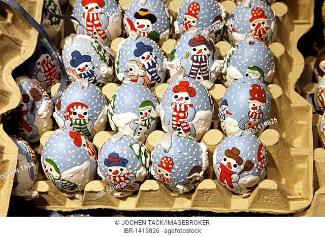 Year-round sale of Easter eggs, Christmas eggs as decorations, Salzburg, Austria, Europe