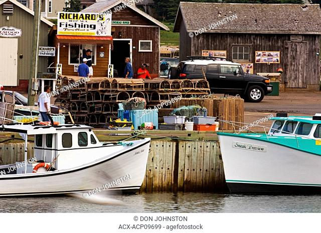 Lobster boats in Covehead harbour, Prince Edward Island National Park, Canada
