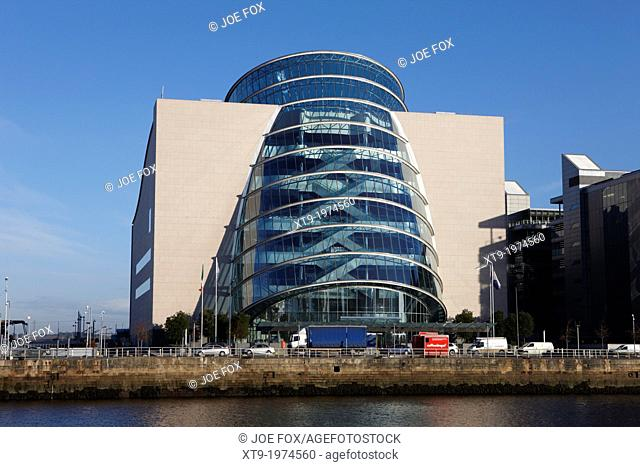 view of the river liffey and the convention centre dublin republic of ireland