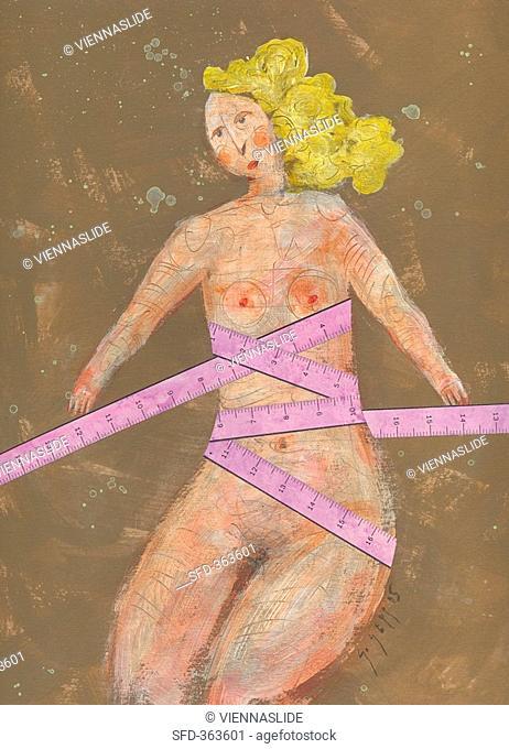 Picture symbolising diet illustration
