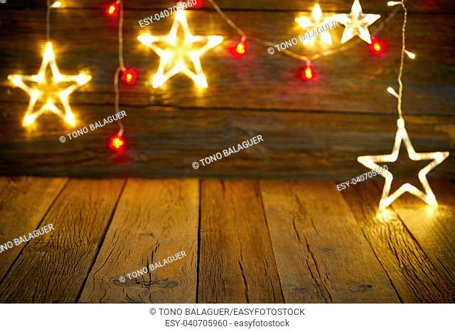 Christmas snowflake star vintage rustic wooden background decoration