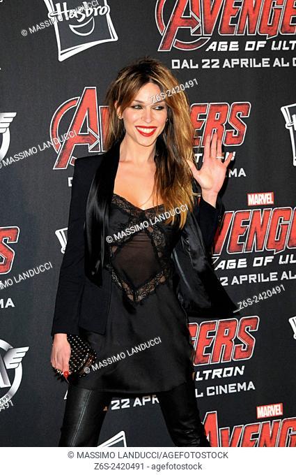 vittoria schisano ; schisano; actress ; celebrities; 2015;rome; italy;event; red carpet ; avengers, age of ultron