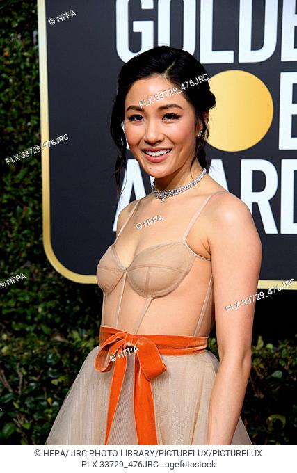 Golden Globe nominee Constance Wu attends the 76th Annual Golden Globe Awards at the Beverly Hilton in Beverly Hills, CA on Sunday, January 6, 2019