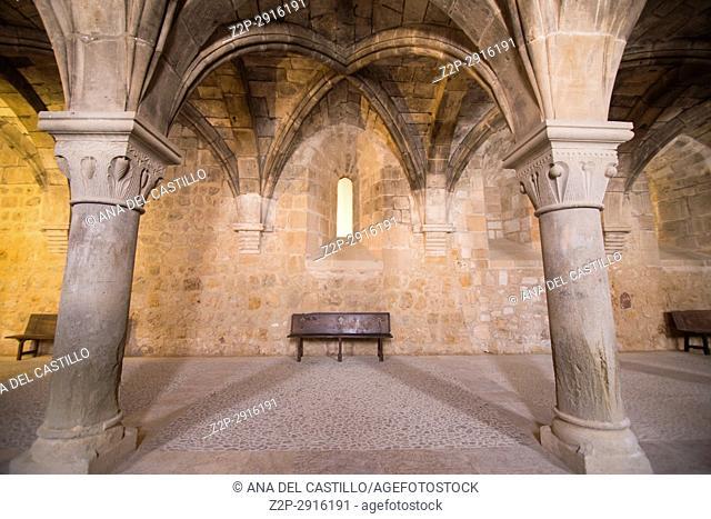 Monastery of Santa Maria de Huerta. Soria province, Castilla-León, Spain on June 14, 2017