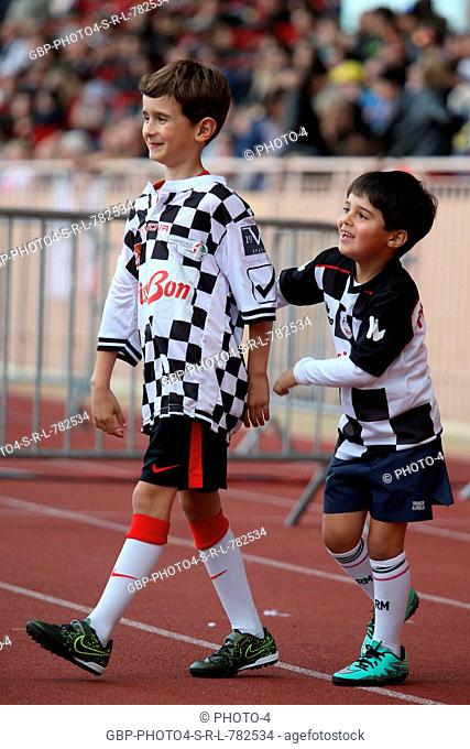 Felipinho Massa (BRA), son of Felipe Massa (BRA) Williams (Right), at a charity football match. 24.05.2016