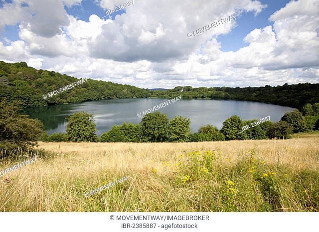 Weinfeld Maar, near Schalkenmehren, Daun, Eifel, Rhineland-Palatinate, Germany, Europe, PublicGround