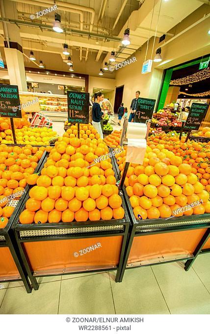 Dubai - JANUARY 7, 2014: Dubai Supermarket Waitrose on January 7