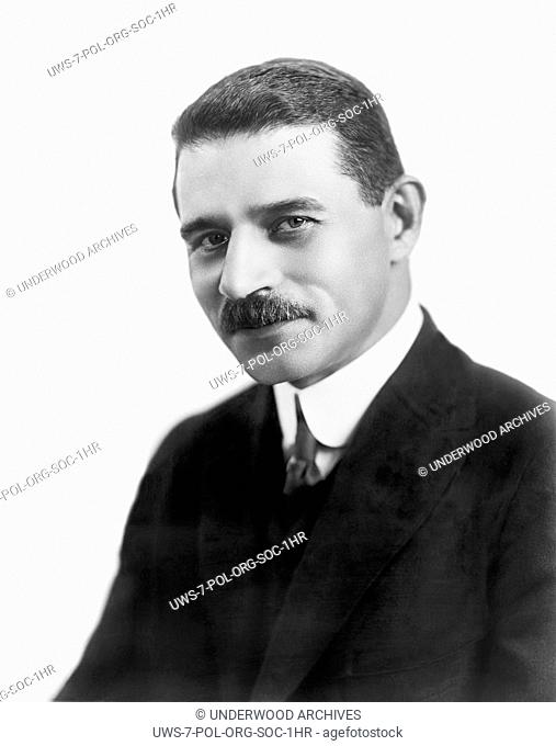 New York, New York: c. 1912.A portrait of Morris Hillquit, one of the founders of the Socialist Party Of America, and a labor lawyer in New York City