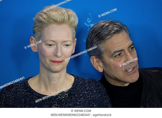 66th Berlin International Film Festival (Berlinale) - 'Hail, Caesar! - Photocall Featuring: Tilda Swinton, George Clooney Where: Berlin