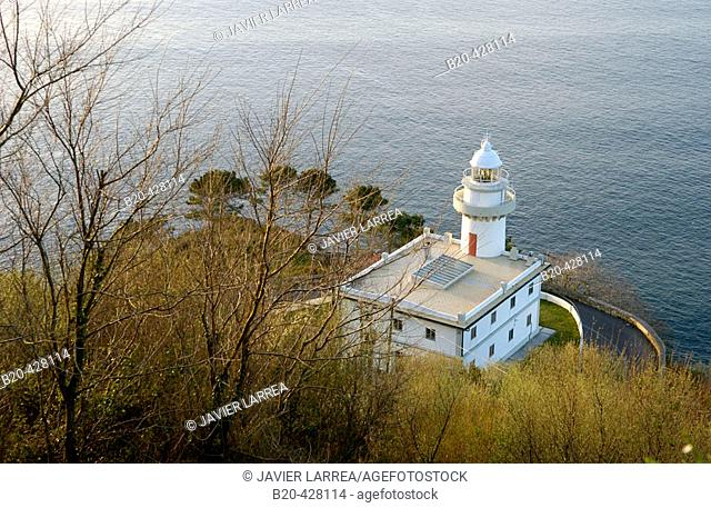 Igeldo lighthouse. Bay of Biscay. Donostia, San Sebastian. Euskadi. Spain