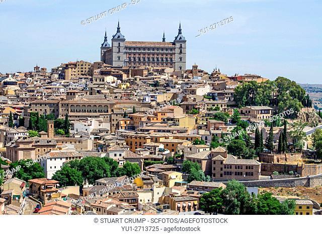 Toledo Alcazar high above the centre of the city