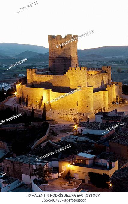 Arabic period castle, XIIth century. Villena. Alicante province. Comunitat Valenciana. Spain