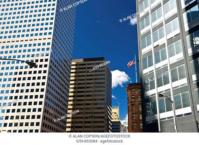 USA, Colorado, Denver, Corner of Broadway