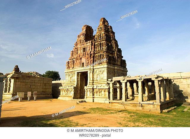Vithala temple in 16th century , Hampi , Karnataka , India