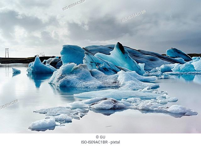 Ice on Jokulsarlon glacier lake, Iceland