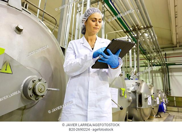 Autoclave sterilization in hermetically sealed containers by the method Appert, Appertization, Production line of canned vegetables and legumes