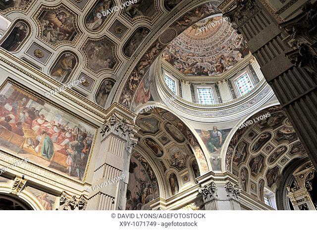 The Duomo di Mantova  Late Renaissance cathedral interior by Giulio Romano  Mediaeval Italian city of Mantua, Lombardy Italy
