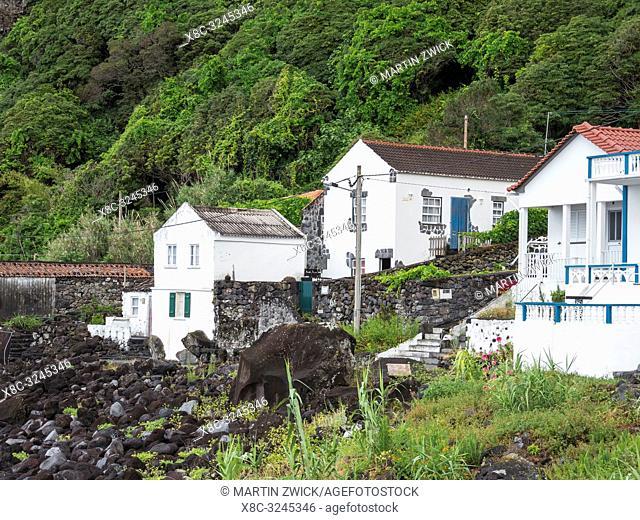 Faja das Almas on the southern coast. Sao Jorge Island, an island in the Azores (Ilhas dos Acores) in the Atlantic ocean