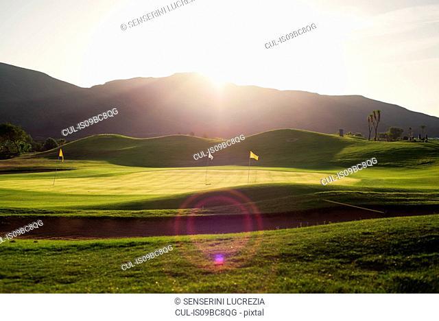 Golf course, Corralejo, Fuerteventura, Canary Islands